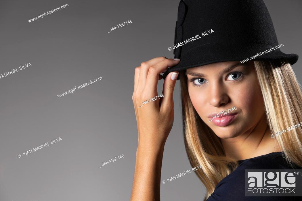 Stock Photo: Portrait of 19-20 year old woman.
