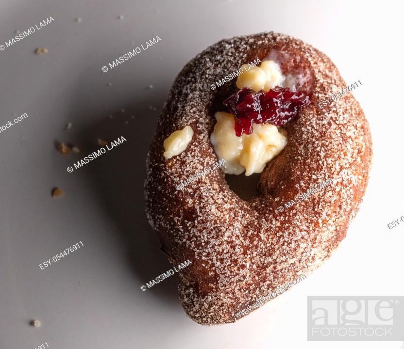 Stock Photo: st Joseph's zeppola, typical homemade Neapolitan fried sweet donut.