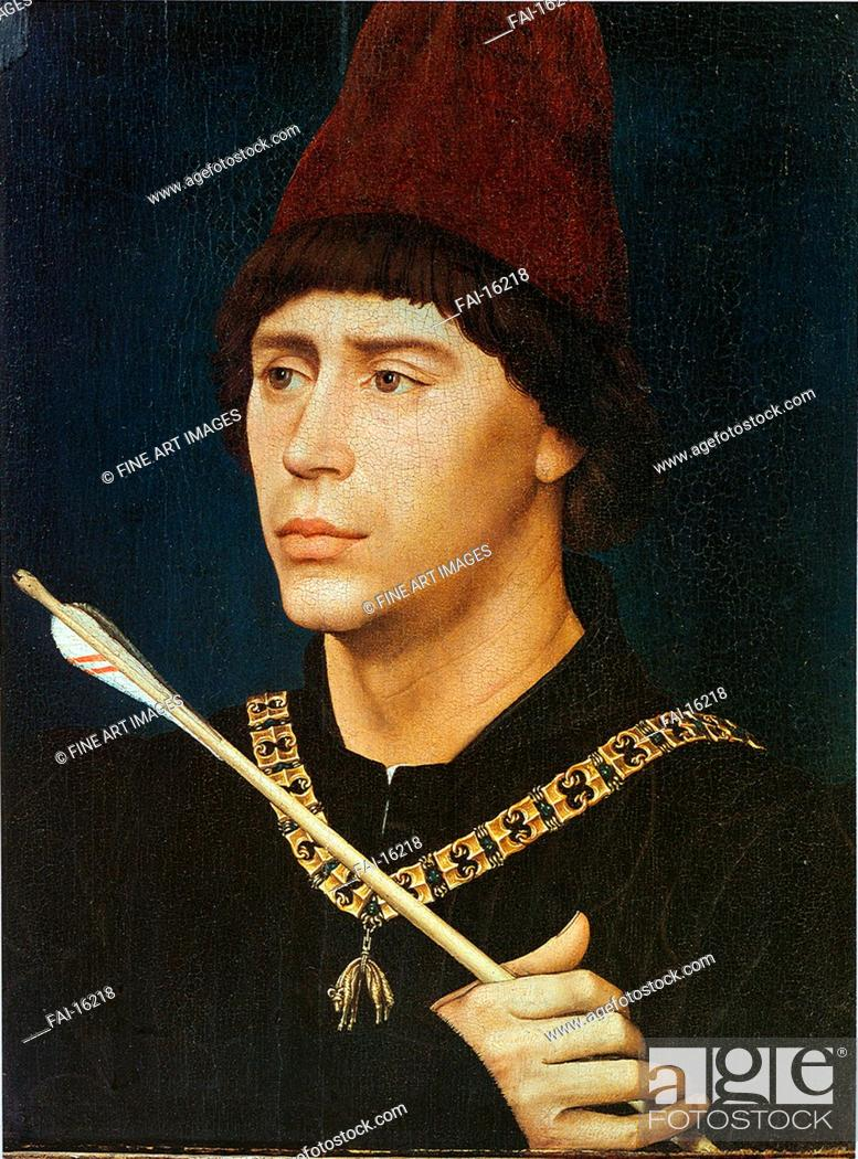 Stock Photo: Portrait of Antoine, bastard of Burgundy. Weyden, Rogier, van der (ca. 1399-1464). Oil on wood. Early Netherlandish Art. ca 1460.