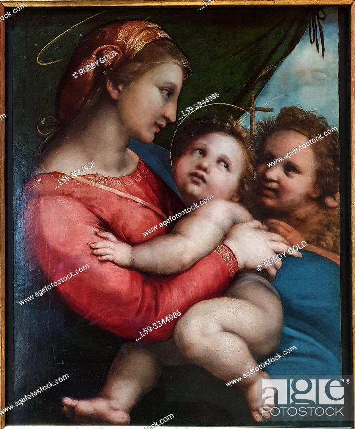 Stock Photo: 'Madonna della Tenda', 1514, by Raffaello Sanzio da Urbino, Gen. Raphael (1483-1520).