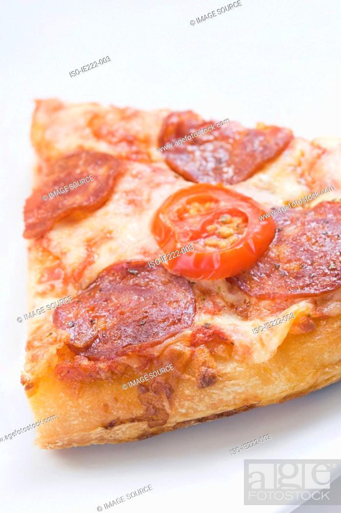 Stock Photo: Slice of pizza.