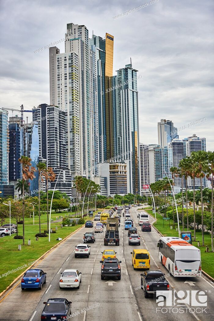 Stock Photo: Cinta Costera, Panama City, Panama, Republic of Panama, Central America.