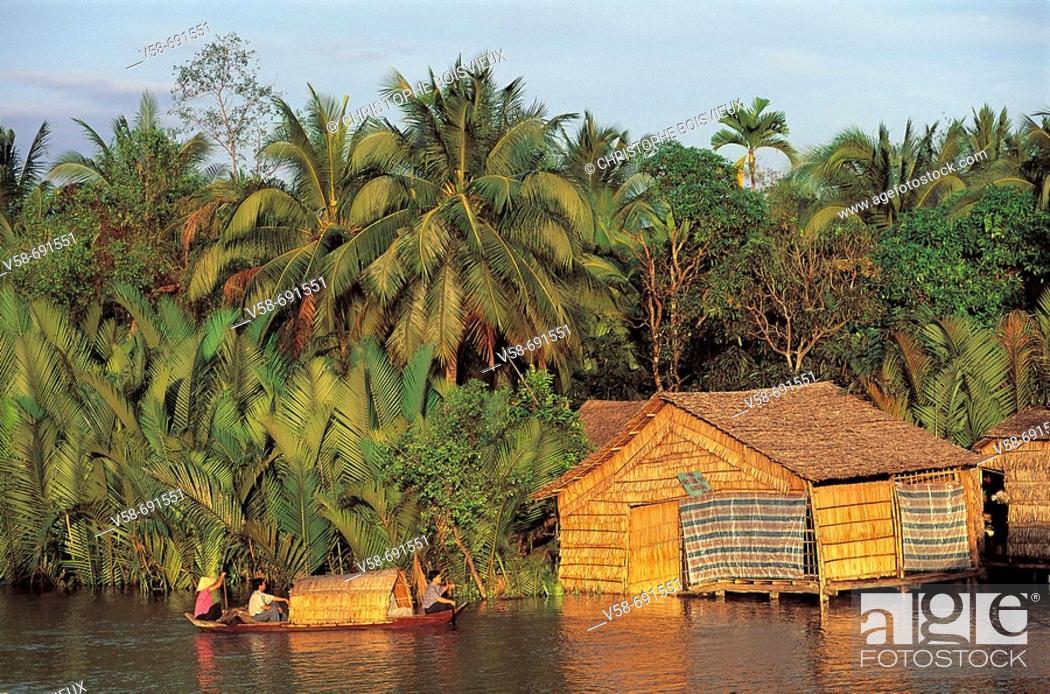 Stock Photo: Soc trang region, Mekong delta, Vietnam.
