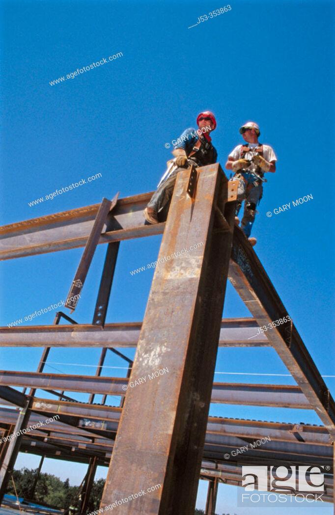 Stock Photo: Ironworkers. Sacramento, California. USA.