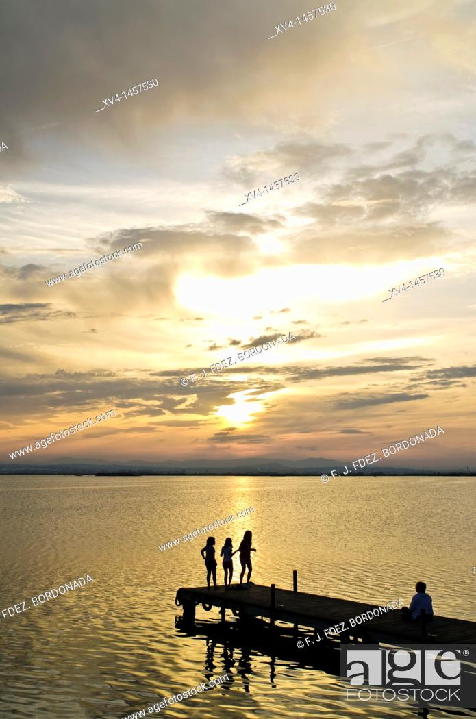 Stock Photo: Albufera de Valencia Nature Park, Valencia, Spain.