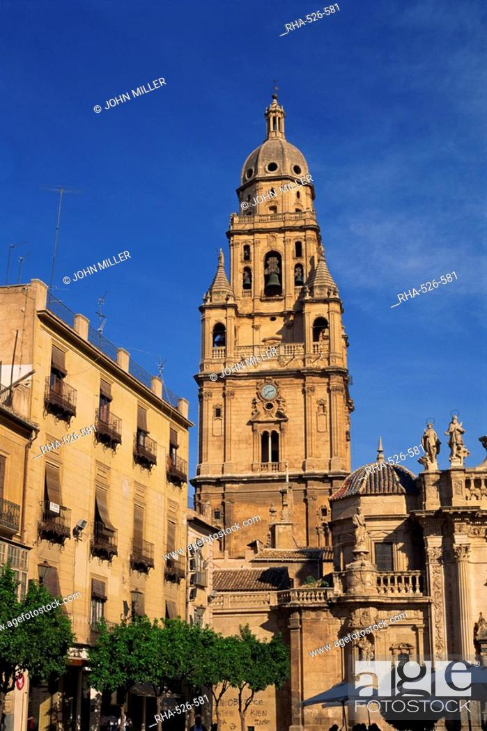 Stock Photo: Murcia Cathedral, Murcia, Spain, Europe.