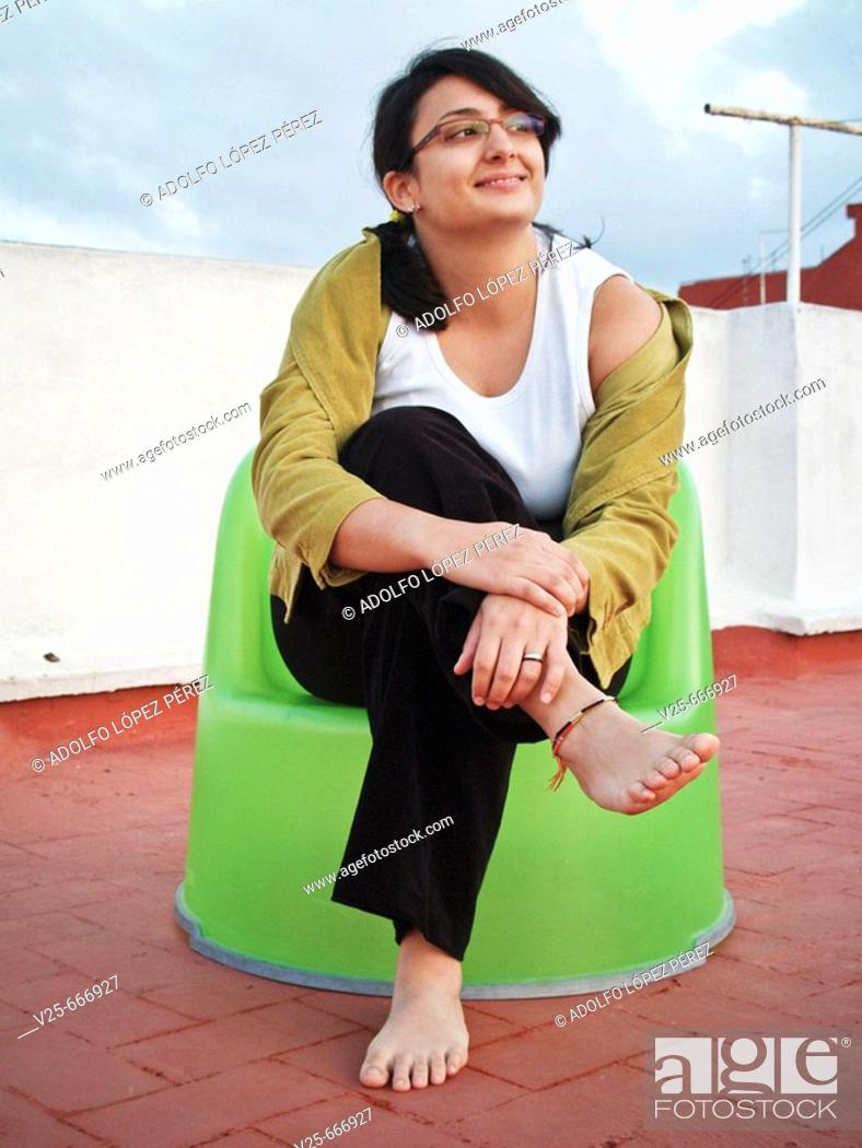 Stock Photo: Young woman. Valencia, Comunidad Valenciana, Spain.