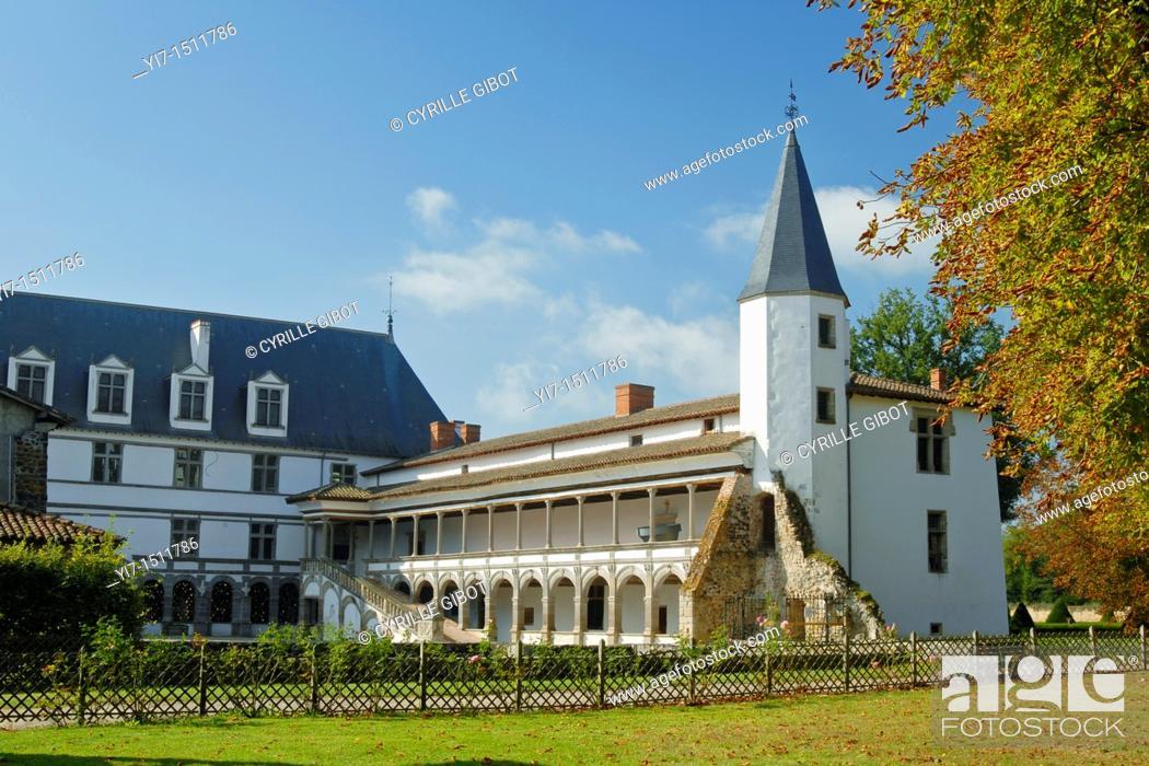Stock Photo: Loire castles, Château de la Bastie d'Urfé, St-Étienne-le-Molard, Loire Valley, Rhone Alpes region, France.