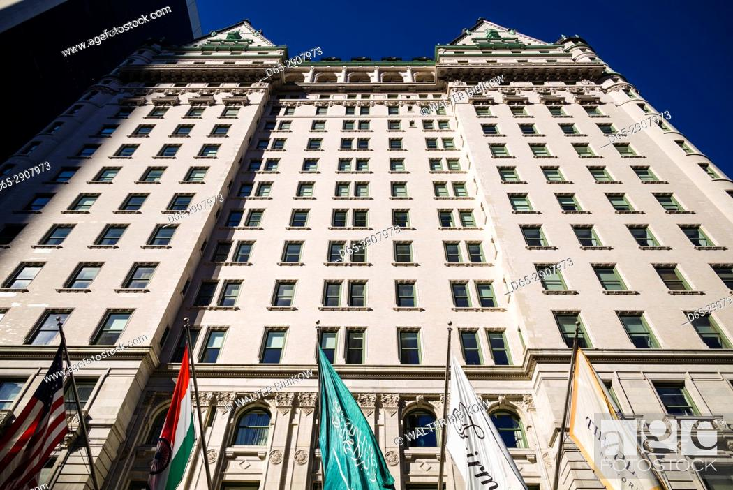 Imagen: USA, New York, New York City, Mid-Town Manhattan, The Plaza Hotel, exterior.