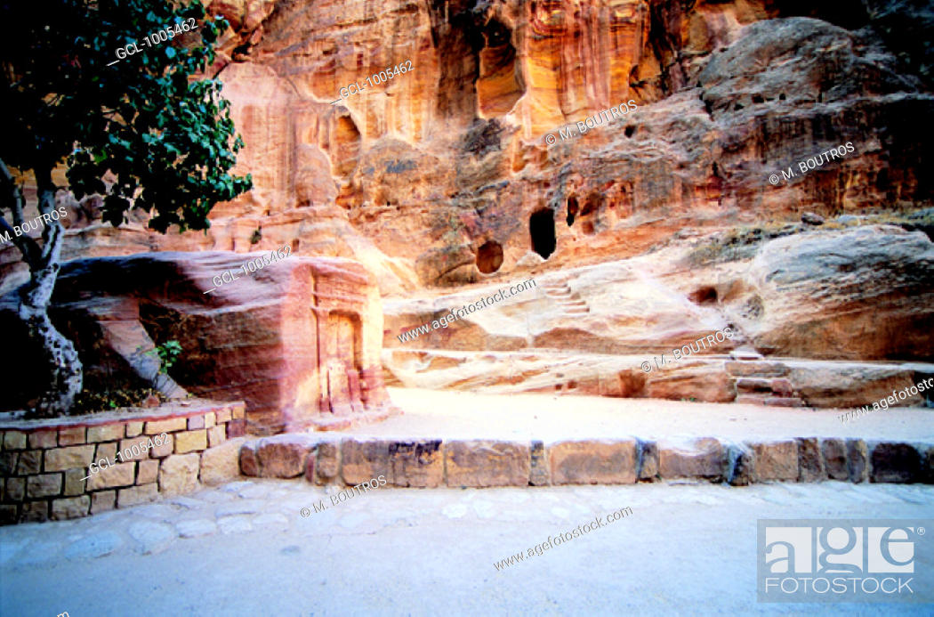 Stock Photo: Historical site in Petra, Jordan.