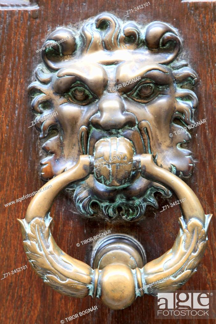Imagen: France, Provence, Avignon, door knob, architecture, detail.