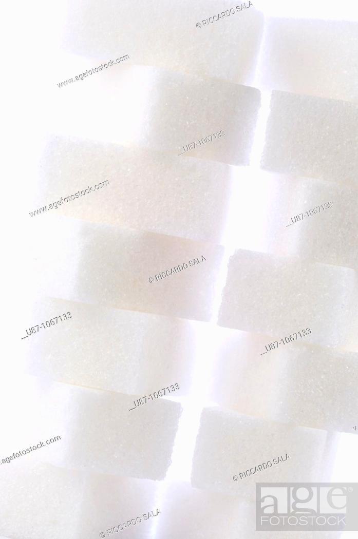 Stock Photo: Sugar cubes.