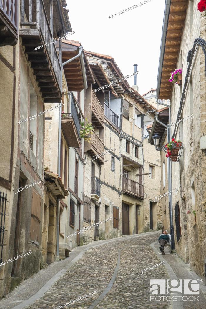Stock Photo: Frias medieval town of Burgos province, one of the most beautiful villages in Spain.