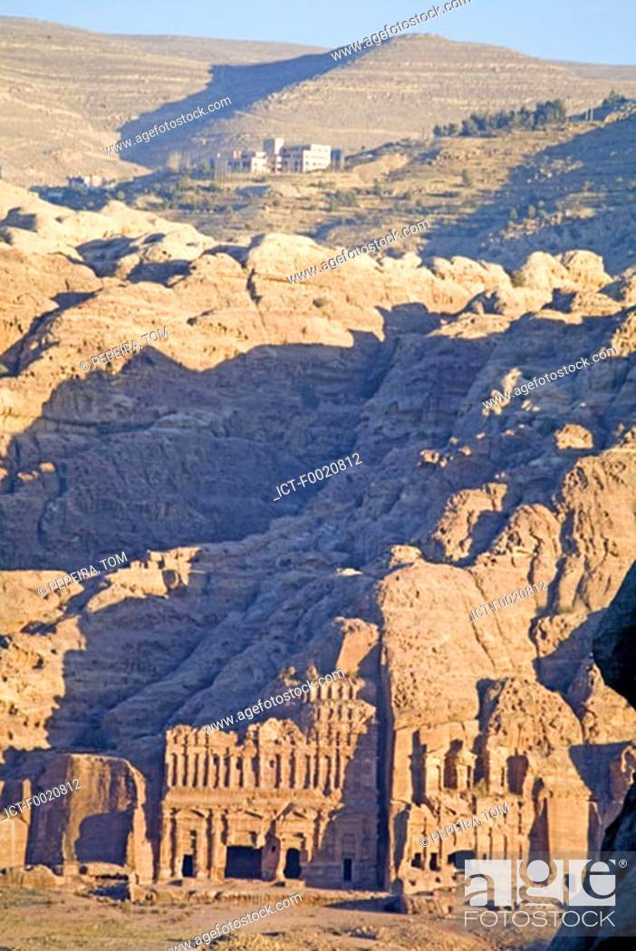 Stock Photo: Jordan, Petra, Nabatean tombs.