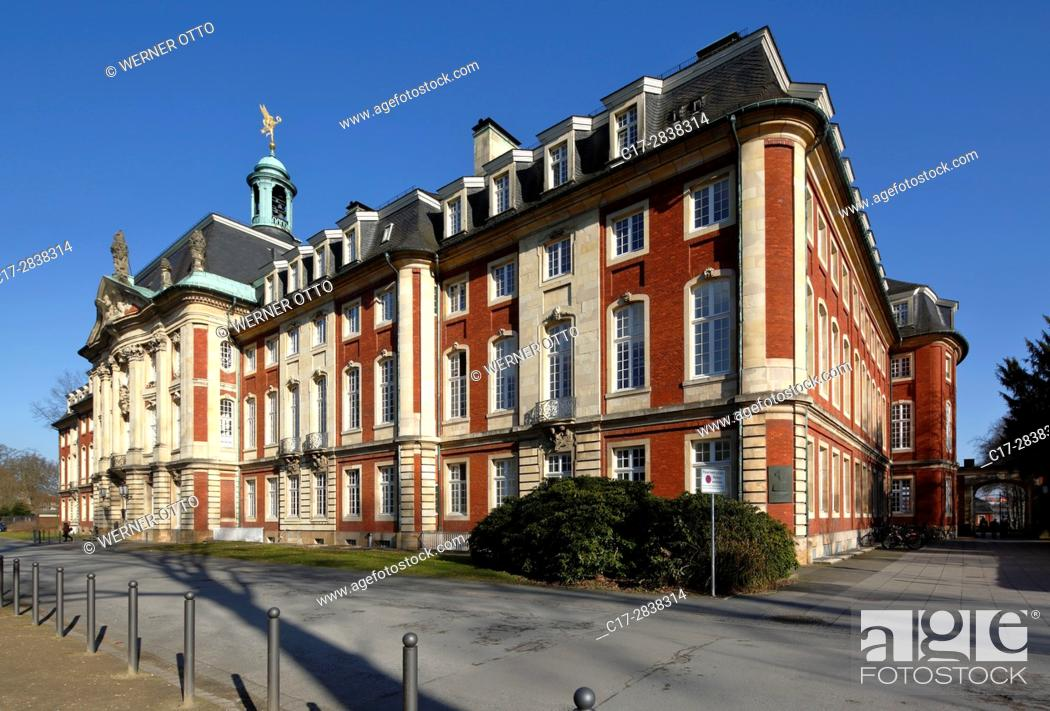Stock Photo: Germany, Muenster, Westphalia, Muensterland, North Rhine-Westphalia, NRW, prince-archbishopal castle, baroque, residence, university.