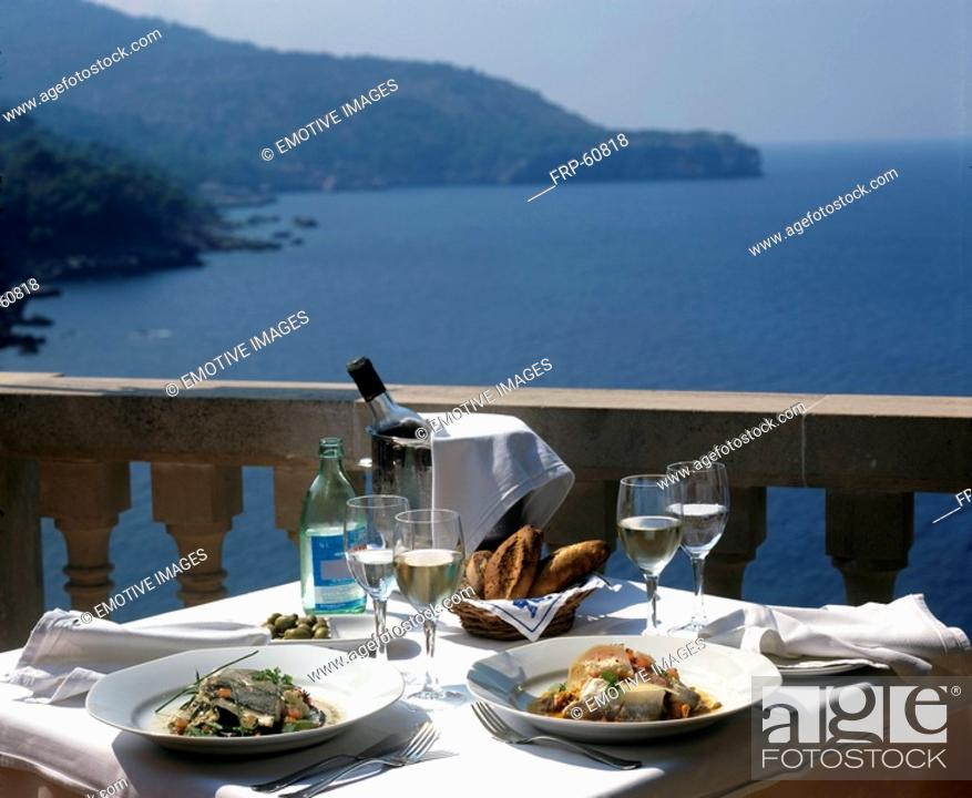 Stock Photo: Balcony with a view.