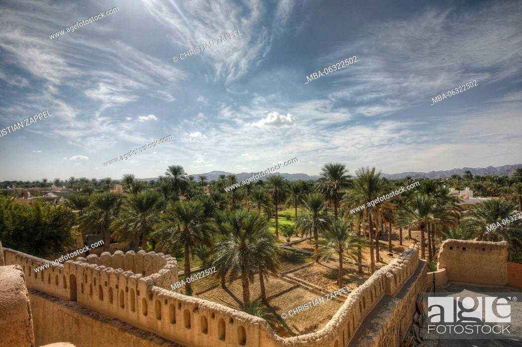 Stock Photo: Nizwa Fort, Nizwa, region of Ad Dakhiliyah, Oman, Asia.