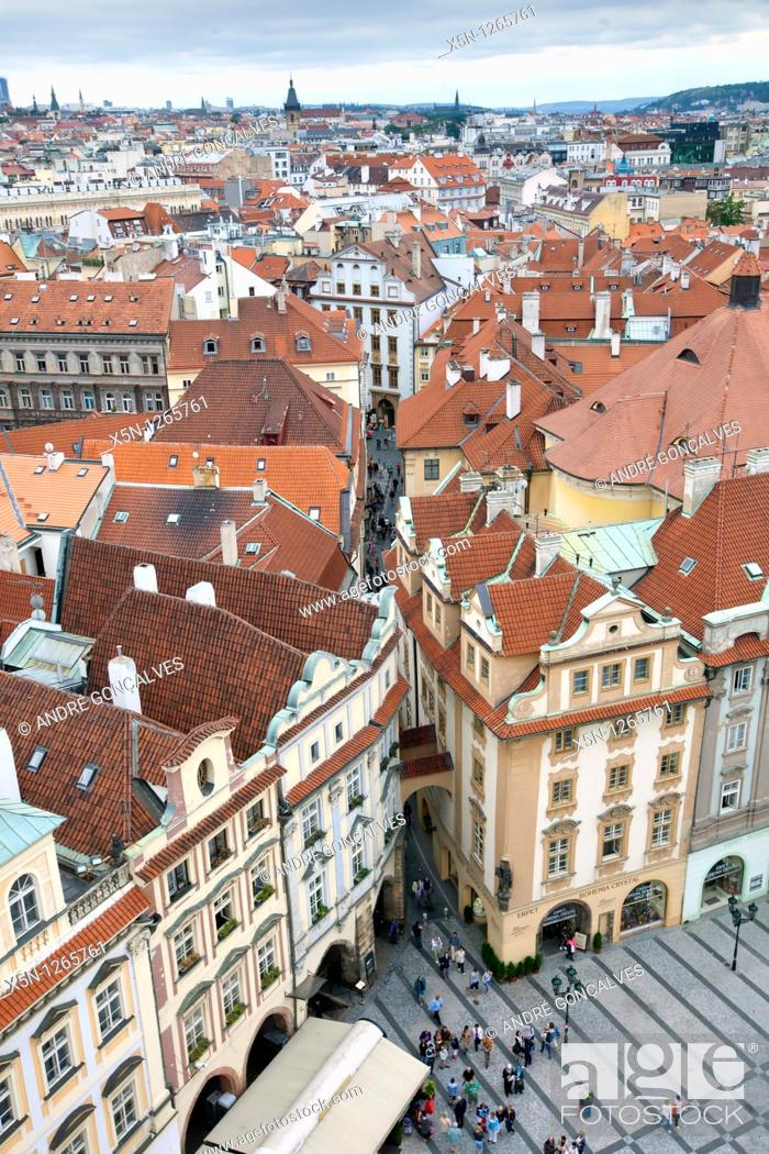 Stock Photo: Streets of Prague, Czech Republic.