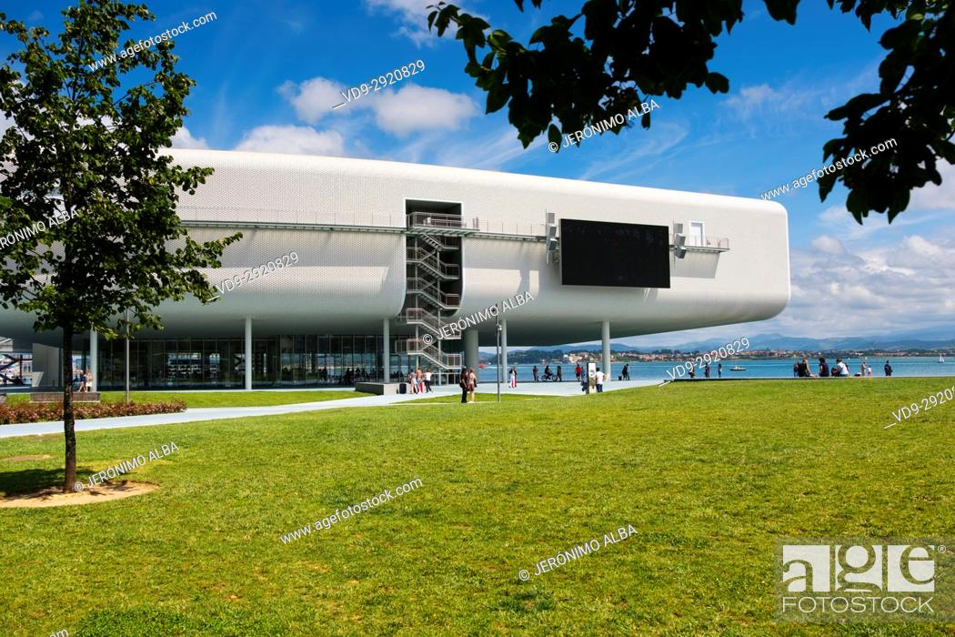 Stock Photo: Botin Center Museum Art and Culture. Botin Foundation, architect Renzo Piano. Santander, Cantabrian Sea, Cantabria, Spain, Europe.
