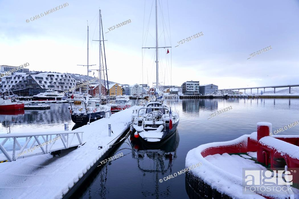 Stock Photo: Tromsø harbour, Tromsø, Troms County, Norway, Europe.