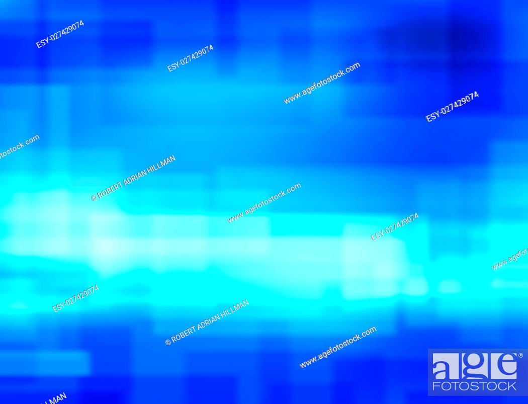 Stock Vector: Editable vector background blur of blue rectangles made with a gradient mesh.