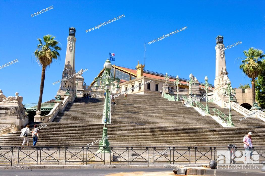 Stock Photo: City View in Marseille, Provence-Alpes-Cote d'Azur, France.
