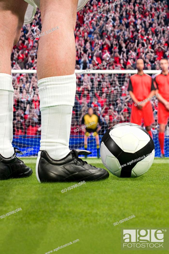 Stock Photo: Free kick during a football match.
