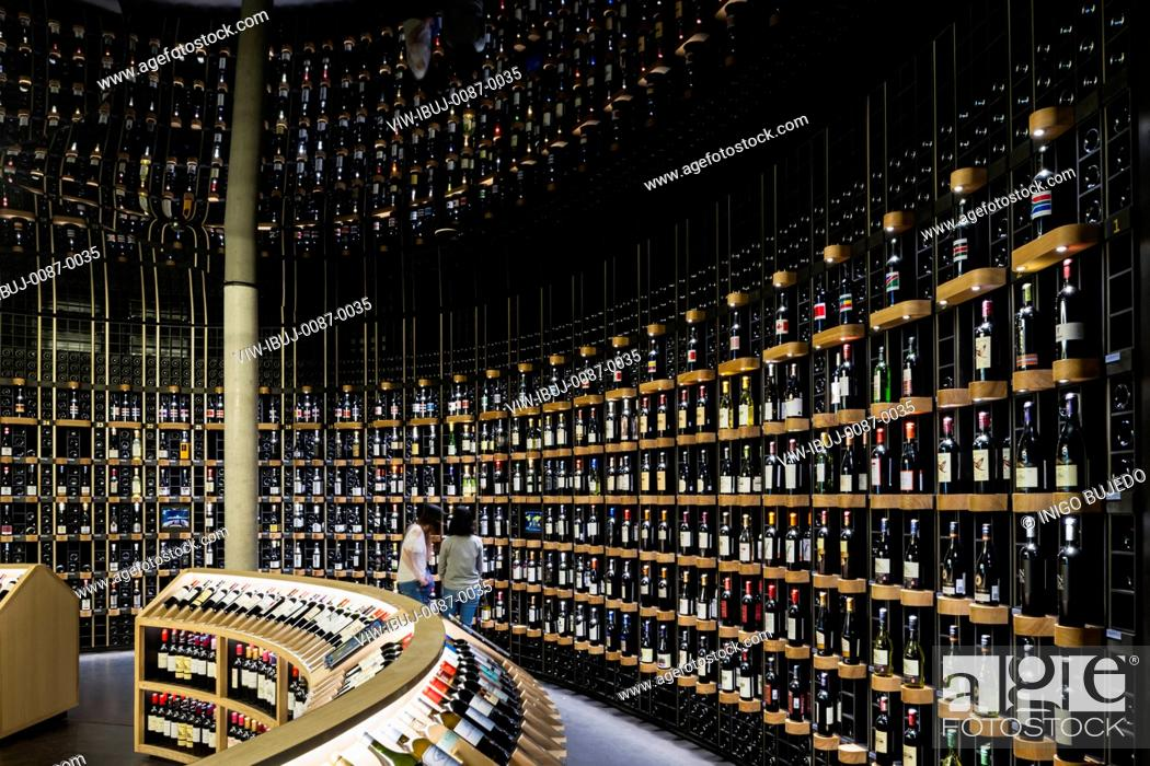 Latitude 20 global wine cellar with more than 14,000 bottles, Stock ...