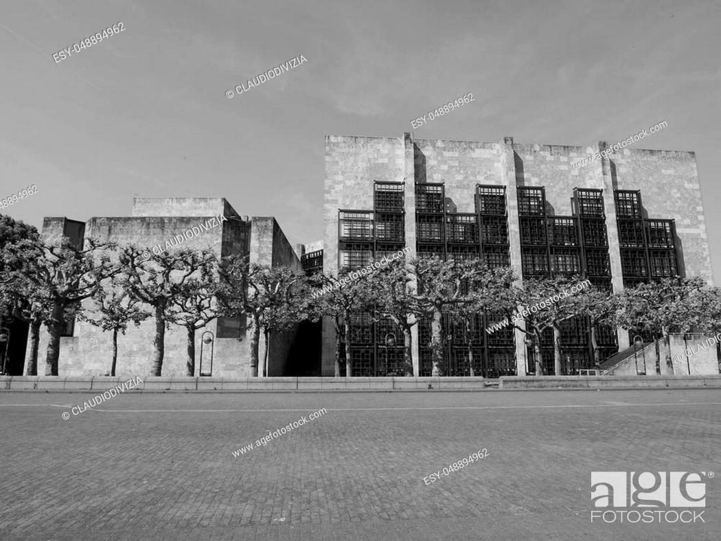 Stock Photo: Mainzer Rathaus city hall in Mainz, Germany.
