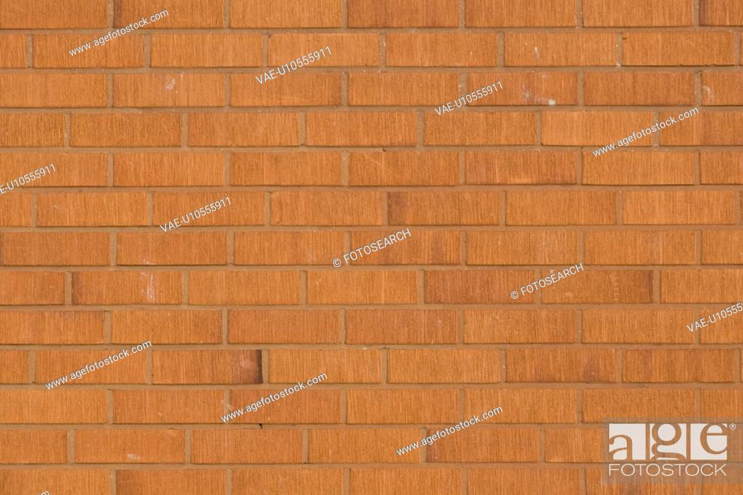 Stock Photo: Brick Wall, Brown, Close-Up, Day, Full Frame.
