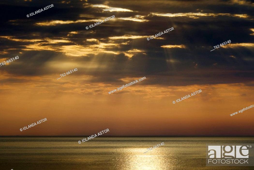 Stock Photo: Sunrise over Mediterranean Sea.