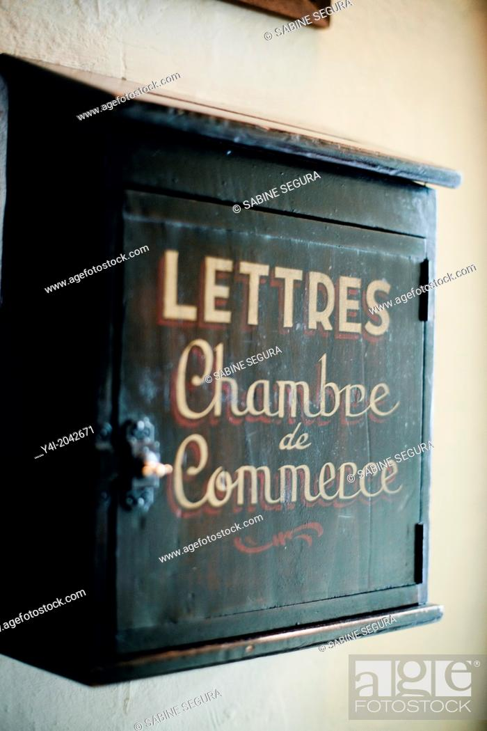 Stock Photo: Old letter box. La Tupina. The greedy street. Bordeaux. Gironde. Aquitaine. France. Europe.