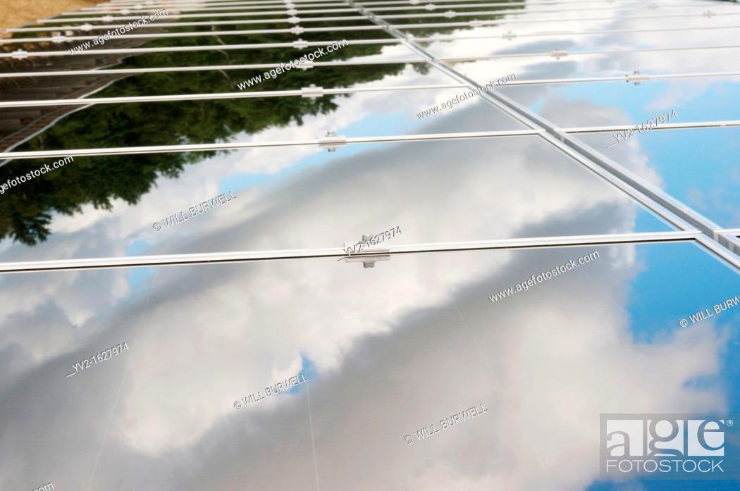 Stock Photo: Solar panel fasteners.