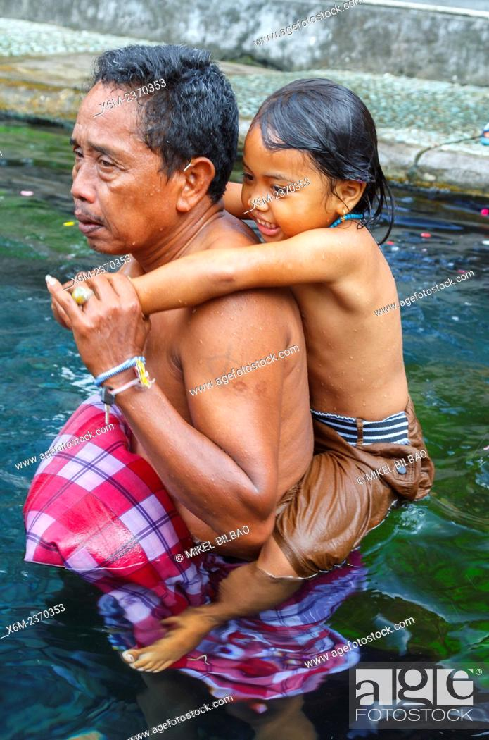People In Tirtha Empul Temple Bali Indonesia Asia Stock