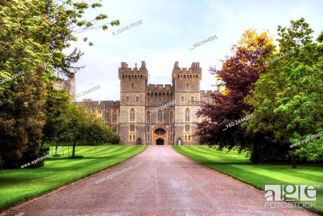 Stock Photo: Windsor Castle, Windsor, Berkshire, England, UK.