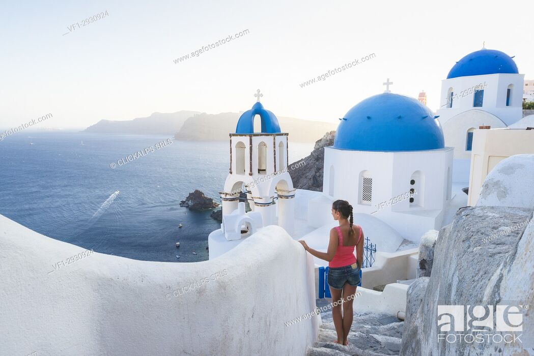 Stock Photo: Oia, Santorini, Greece.