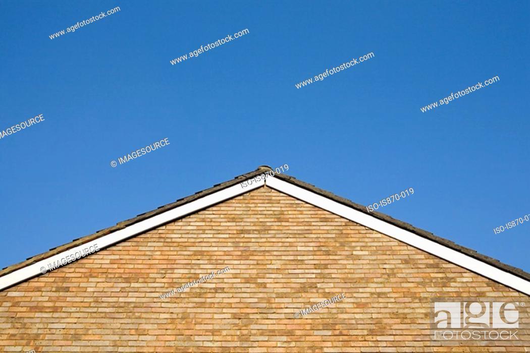 Stock Photo: Gable of a house.