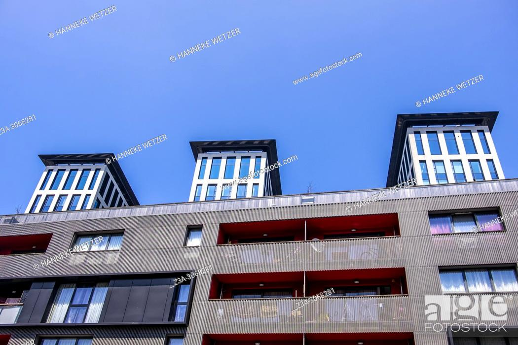 Stock Photo: Modern architecture in Brussels, Belgium, Europe.