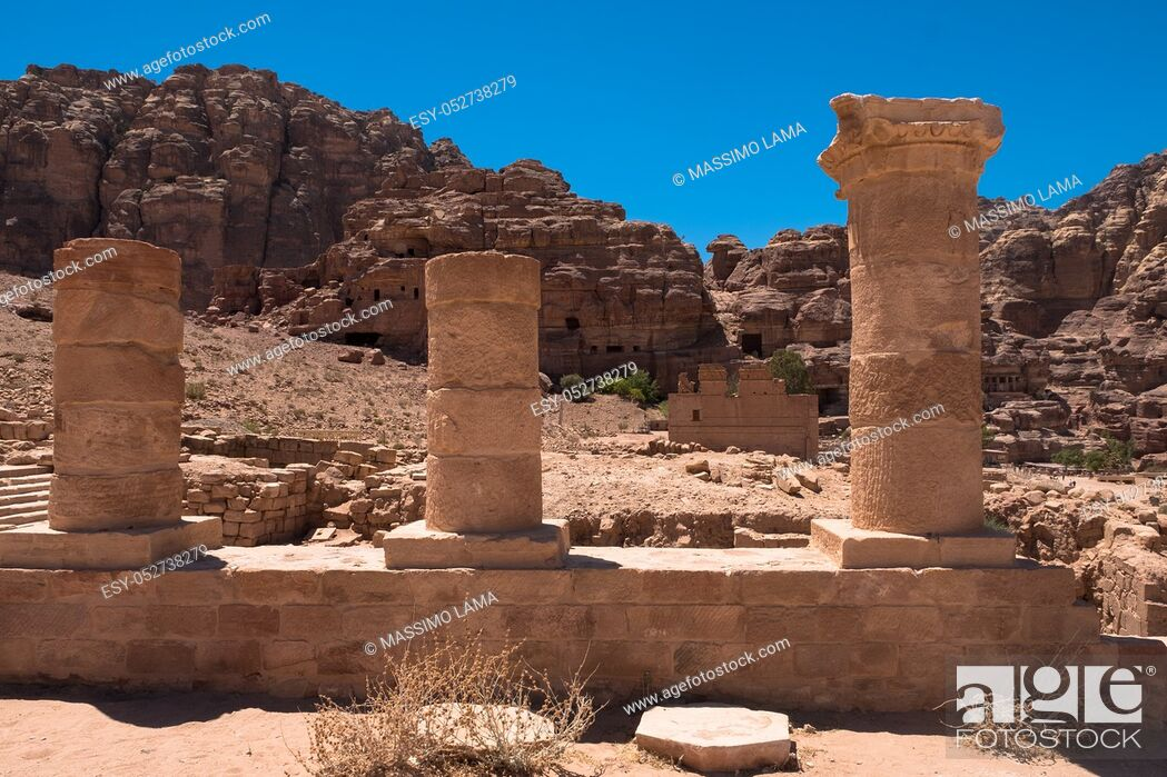 Imagen: Ruins of Petra, World's UNESCO Heritage, Jordan.