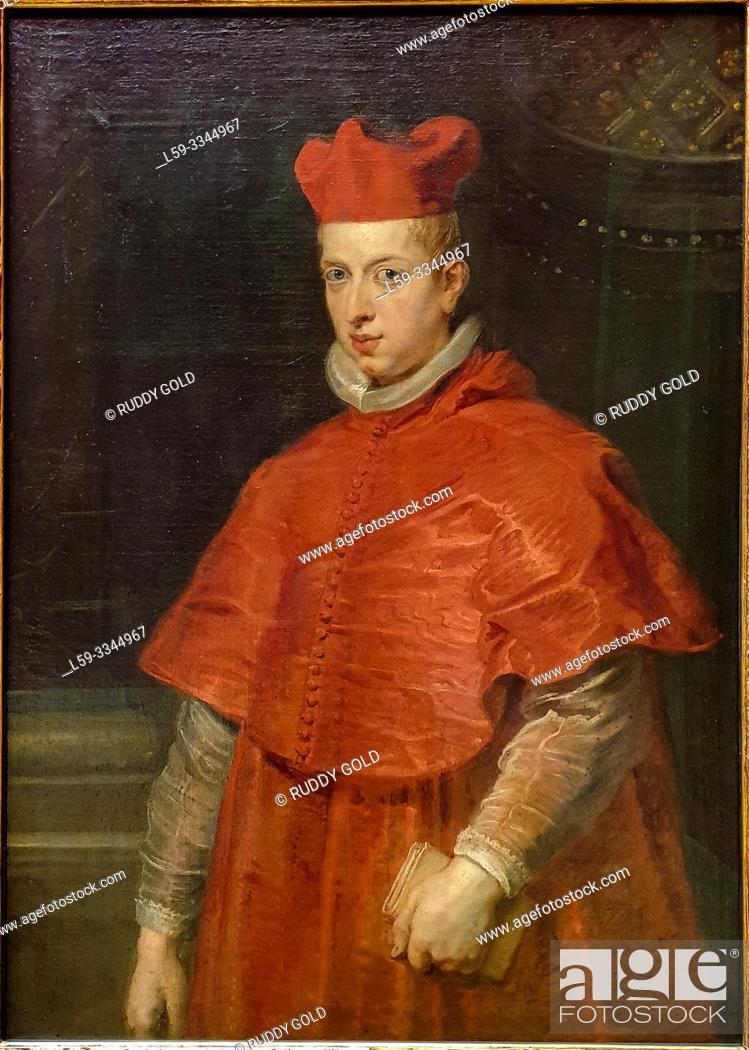 Stock Photo: 'Don Fernando, Cardinal-Infante of Spain', 1628/29, by Peter Paul Rubens (1577-1640).