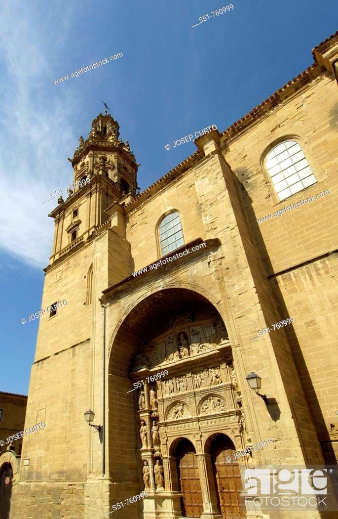 Stock Photo: Santo Tomás de Haro, La Rioja, Spain.