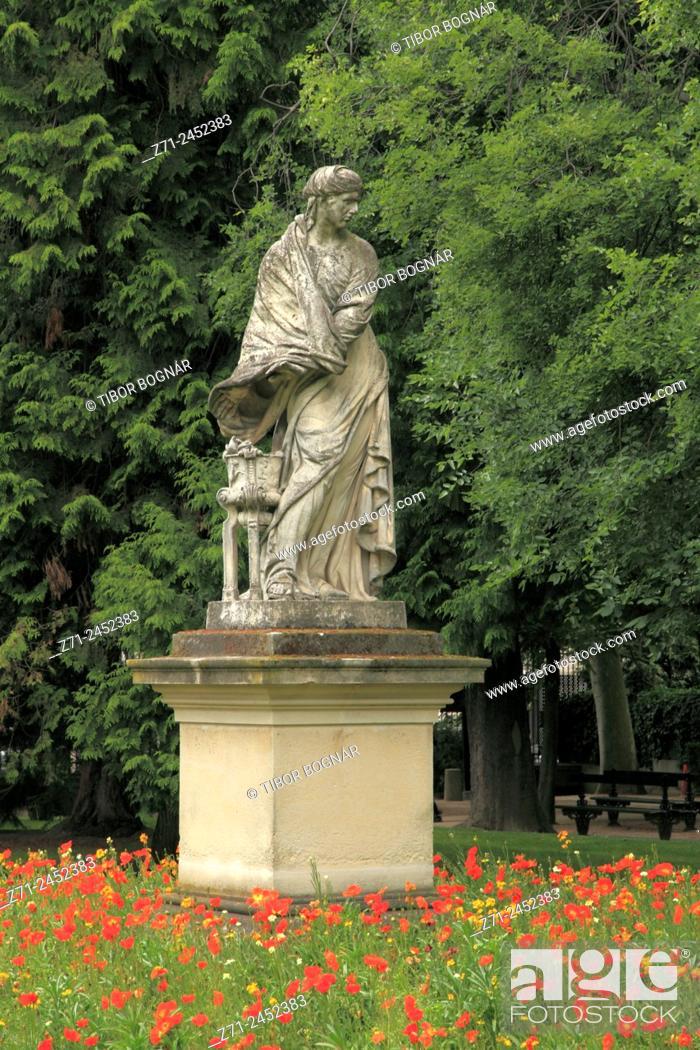 Imagen: France, Paris, Jardin du Luxembourg, park, garden, statue.