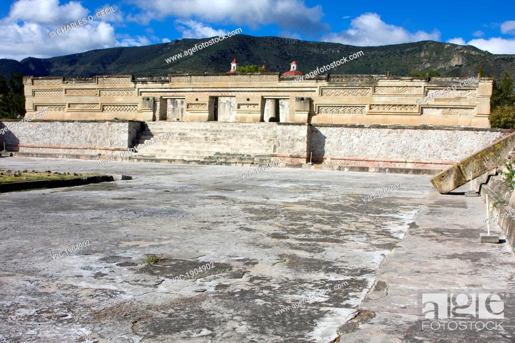 Mitla Oaxaca Mexico The Palace Zapotec Geometric Designs And