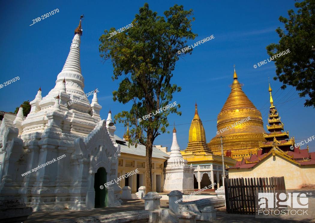 Stock Photo: Shwe Zigon Paya Golden Temple, Bagab, Myanmar.