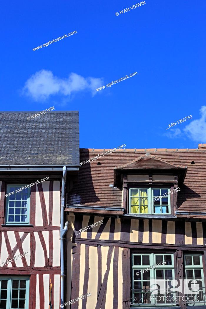 Stock Photo: Old house, Rouen, Seine-Maritime department, Upper Normandy, France.