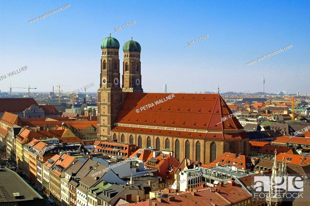 Stock Photo: Cathedral of our blessed Lady, Munich, Bavaria, Germany.