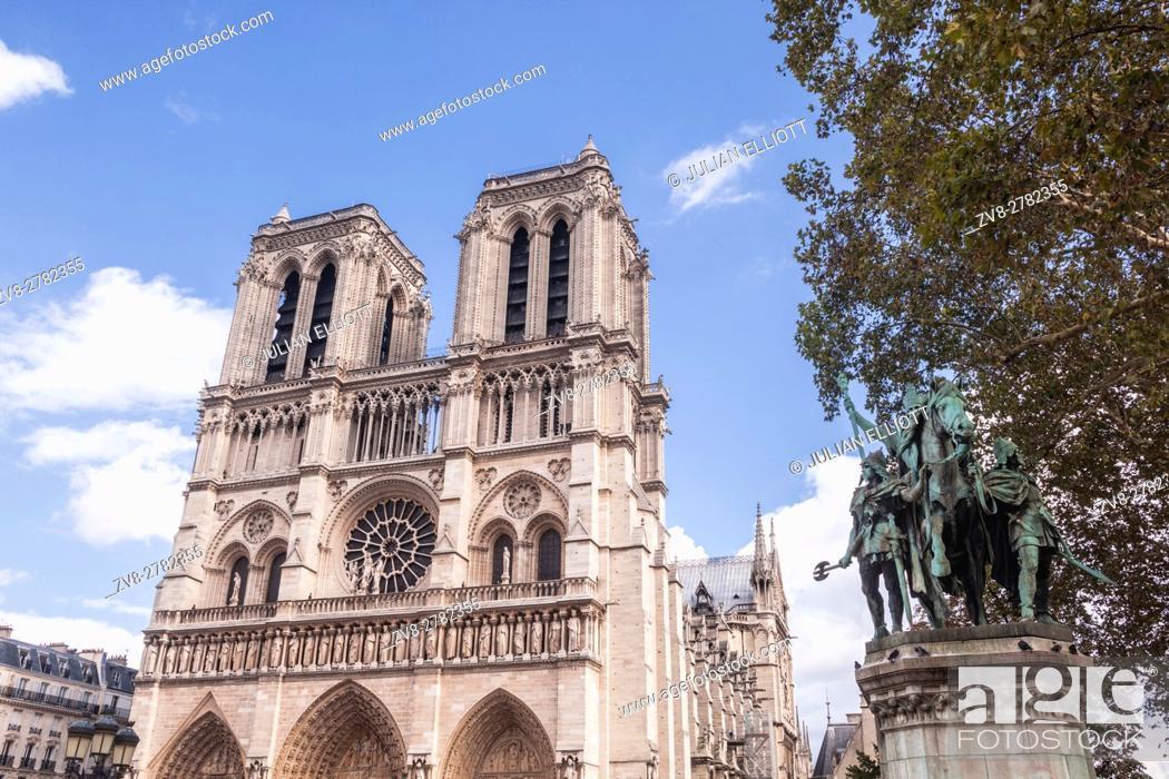 Stock Photo: Notre Dame de Paris cathedral in France.