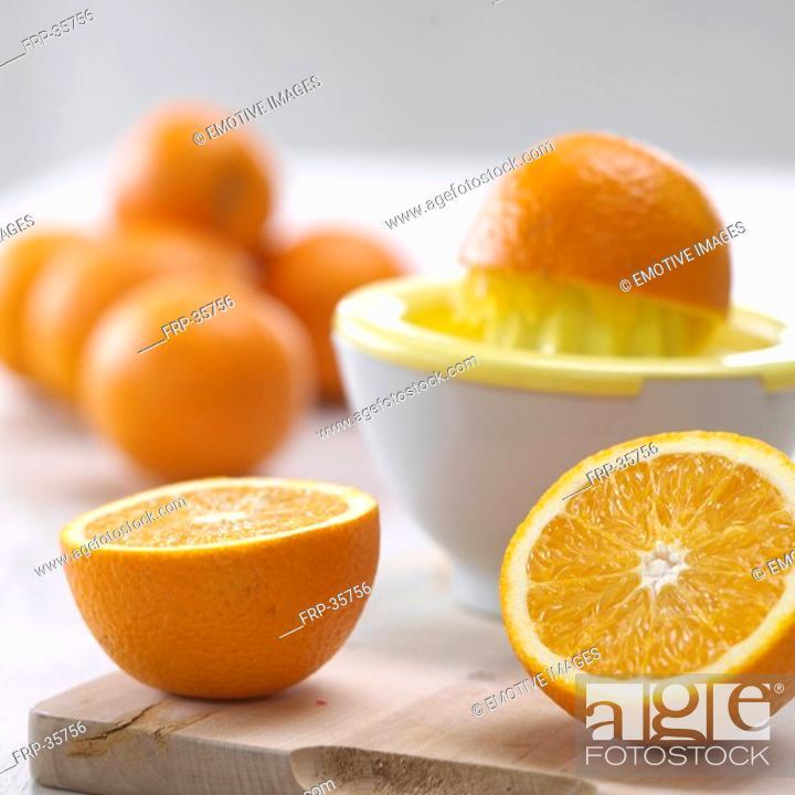 Stock Photo: fresh pressed orange juice.