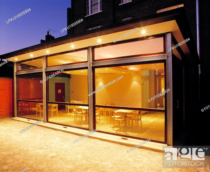 Stock Photo: Exterior view of modern extension.