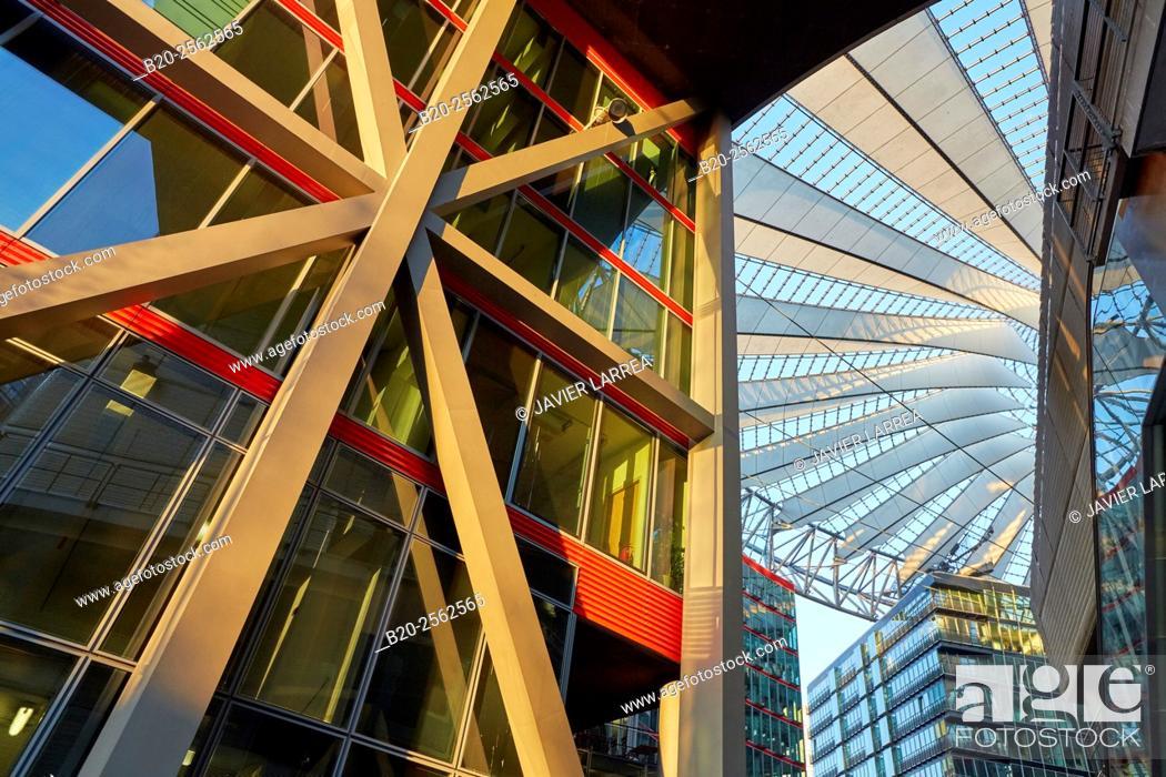 Stock Photo: Sony Center, Potsdamer Platz, Berlin, Germany.